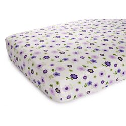Basics Lilac Floral Fitted Sheet