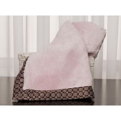 Basics Fur Blanket with Satin