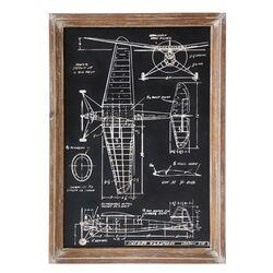 Wood Airplane Print Wall Art
