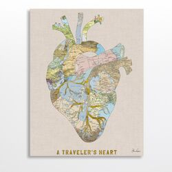 A Traveler's Heart by Bianca Green Graphic Art on Canvas