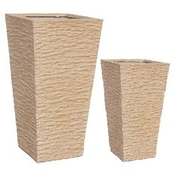 2 Piece Rectangular Pot Planter Set