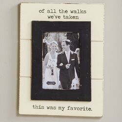 Wedding Of All the Walks Picture Frame