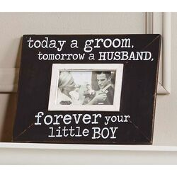 Wedding Today a Groom Picture Frame