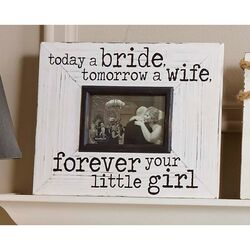 Wedding Today a Bride Picture Frame