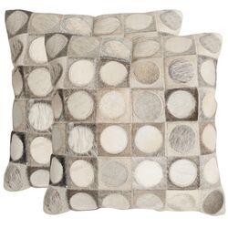 Brigitte Cowhide Decorative Throw Pillow