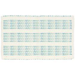 Cross Stitch Ivory/Turquoise Area Rug