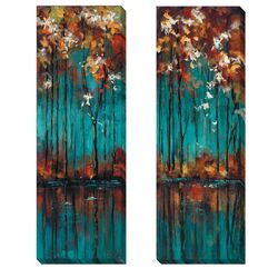 'The Mirror I & II' by Luis Solis 2 Piece Painting Print on Wrapped Canvas ...