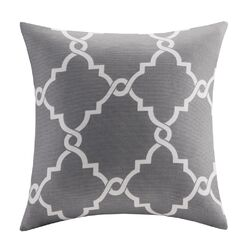 Saratoga Fretwork Print Blend Throw Pillow