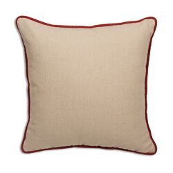 Corded Linen Throw Pillow