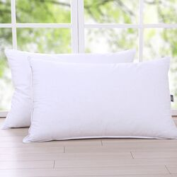 Cotton Fabric Triple Chamber Feather and Down Pillow