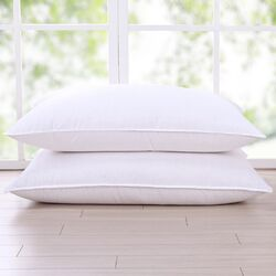Cotton Fabric 300 Thread Count Triple Chamber Goose Feather and Down Pillow