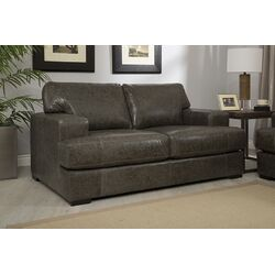 Abbyson Living Sedona Reclining Italian Leather Sofa And