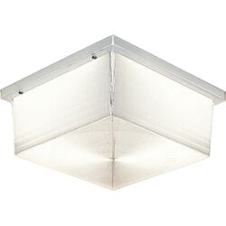 Hard-Nox Fluorescent Outdoor Clear Flush Mount