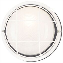 Exterior Round Flush Mount in White (Set of 2)