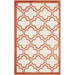 Amherst Ivory & Orange Indoor/Outdoor Area Rug