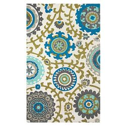 Cedar Brook Ivory / Light Blue Floral Rug