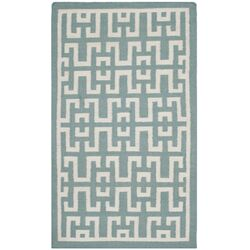 Dhurries Seafoam / Ivory Outdoor Rug