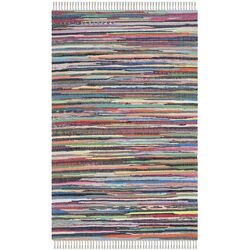 Rag Multi Striped Contemporary Rug