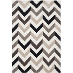 Cambridge Ivory & Black Chevron Area Rug