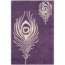 Soho Purple/Ivory Area Rug