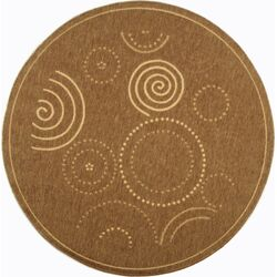 Courtyard Circles Outdoor Rug