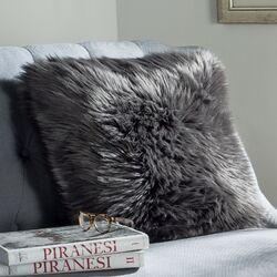 Shadow Fox Faux Fur Pillow