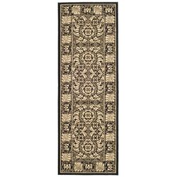 Courtyard Sand/Black Outdoor Rug