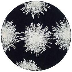 Soho Burst Black & White Area Rug