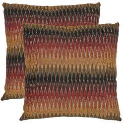 Rainbow Cascade Cotton Decorative Pillow