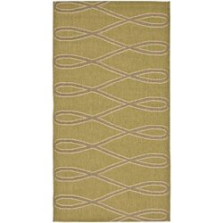 Courtyard Green/Cr�me Wave Rug