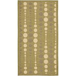 Courtyard Green/Cr�me Outdoor Rug
