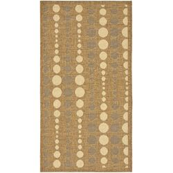 Courtyard Gold/Cr�me Poka-Dot Outdoor Rug