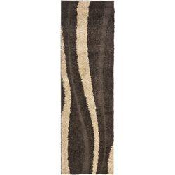 Florida Shag Dark Brown & Beige Rug