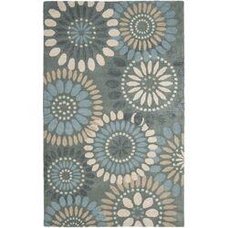 Jardin Grey & Blue Floral Area Rug