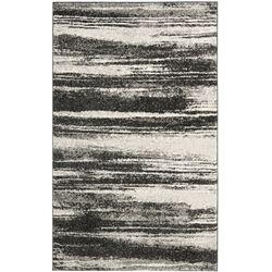 Retro Dark Grey & Light Grey Rug