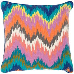 Dripping Stiches Neon Cotton Throw Pillow