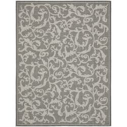 Courtyard Anthracite/Light Grey Outdoor/Indoor Area Rug