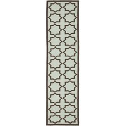Dhurries Light Blue/Brown Cross Area Rug
