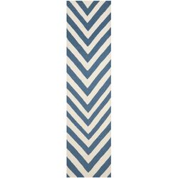 Dhurries Blue/Ivory Outdoor Rug