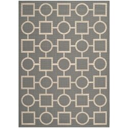 Courtyard Anthracite & Beige Outdoor Area Rug