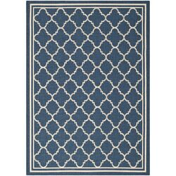 Courtyard Grantham Blue/Ivory Outdoor Area Rug