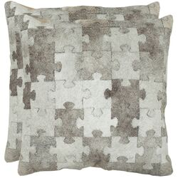 Mason Cowhide / Suede Backing Decorative Pillow