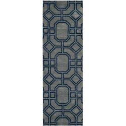 Soho Grey / Dark Blue Rug
