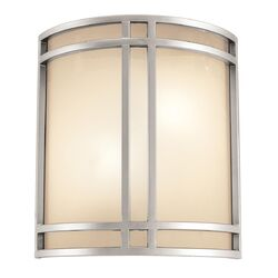 Artemis Wall Sconce with Opal Glass in Satin Nickel