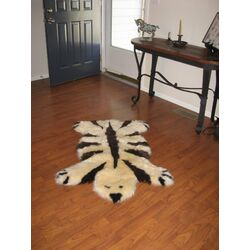 Designer Bear Animal Champagne/Chocolate Area Rug