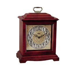 American Styled Bracket Quartz Operated Mantel Clock in Cherry
