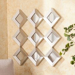 Hutton Decorative Mirrored Squares Wall Sculpture