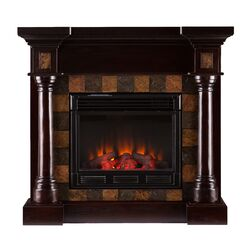 rustic electric fireplace wayfair