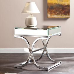 Caraman Mirrored End Table