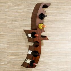 Cresent 8 Bottle Wall Mounted Wine Rack